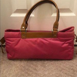 Kate Spade pink nylon bag.